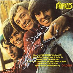 The Monkees Signed Self-Titled Album