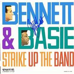 Tony Bennett Signed Bennett and Basie Strike Up the Band Album