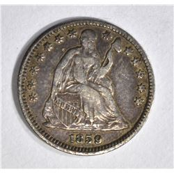 1859 SEATED HALF DIME, XF/AU