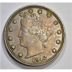 1912 LIBERTY NICKEL, AU