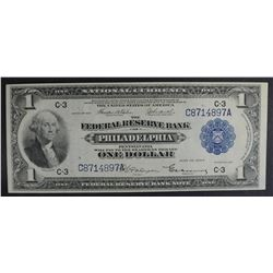 1918 $1 NATIONAL CURRENCY  NICE AU