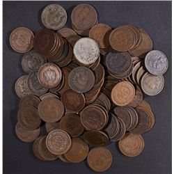 100-MIXED DATE AVE CIRC INDIAN CENTS