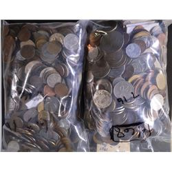 13 POUNDS OF FOREIGN COINS - UNSEARCHED