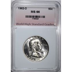 1962-D FRANKLIN HALF DOLLAR WHSG
