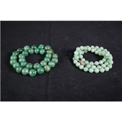 Two beads necklaces. (30 beads, 58 beads)