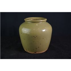 An Early 20th century Celadon-Glazed Pottery Jar