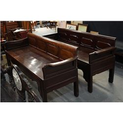 Early of the republic of China, a pair of rosewood couch.