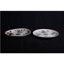 "Two Small Republican Era ""Floral"" Plates."