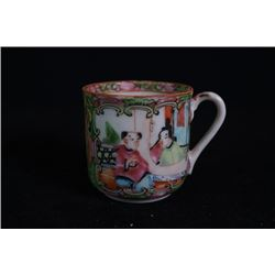 "Qing Dynasty Export ""Guang Cai"" Coffee Cup."