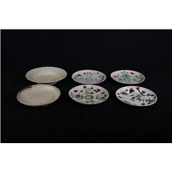 "a set of four Famille-Rose ""Floral"" plates. Two White-Glazed Small Plates."