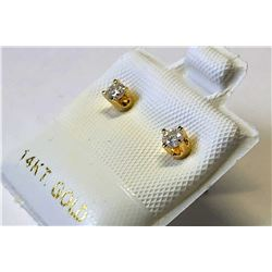 14kt. GOLD DIAMOND (0.15ct) EARRINGS