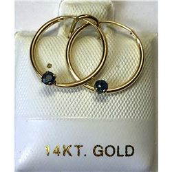 14kt GOLD SAPPHIRE (0.15ct) EARRINGS