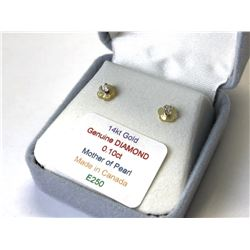 14kt. GOLD DIAMOND (0.10ct) 2-in-1 MOTHER