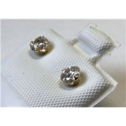 14kt GOLD CUBIC ZIRCONIA EARRINGS