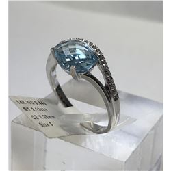 14kt WHITE GOLD BLUE TOPAZ (2.13ct) &
