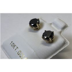 10kt. GOLD BLACK DIAMOND (1.40ct) EARRINGS