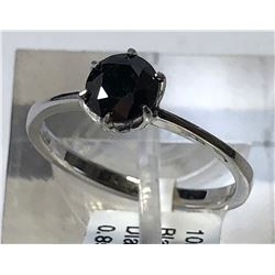 10kt WHITE GOLD BLACK DIAMOND (0.85ct) RING