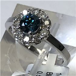 10kt WHITE GOLD BLUE DIAMOND (0.52ct)