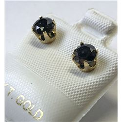 10kt. GOLD BLACK DIAMOND (1.00ct) EARRINGS