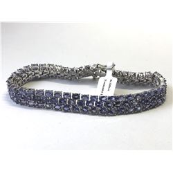 SILVER NATURAL TANZANITE (21.70ct) BRACELET