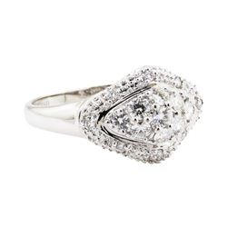18KT White Gold 0.50 ctw Diamond Cluster Ring
