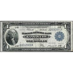 1918 $1 Federal Reserve Bank of Kansas City Note