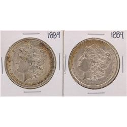 Lot of (2) 1889 $1 Morgan Silver Dollar Coins