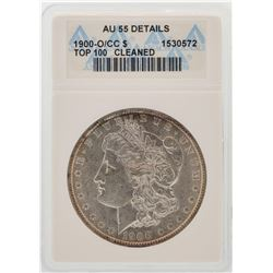 1900-O/CC $1 Morgan Silver Dollar Coin Top-100 ANACS AU55 Details