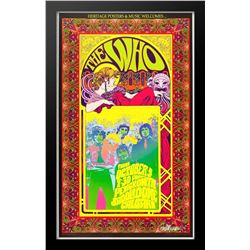 Concert poster designed for The Who at Pengrowth Saddledome in Calgary on Thursday, October 3rd.