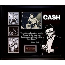 Johnny Cash Signed Collage
