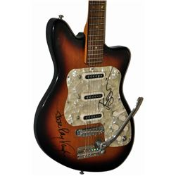 David Bowie & Stevie Ray Vaughn   Signed Guitar
