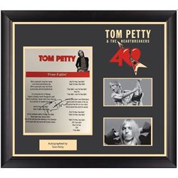 Tom Petty Autographed Lyrics Free Fallin'