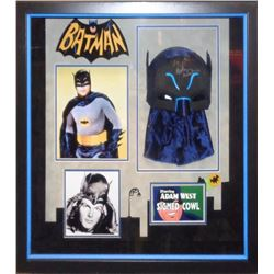 Batman Adam West Autographed Cowl