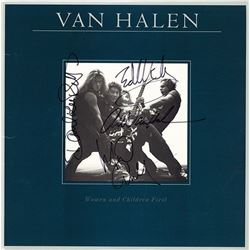 Van Halen Band Signed Women And Children First Album