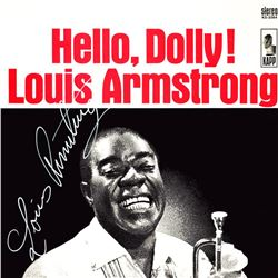 Louis Armstrong Signed Hello Dolly Album