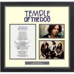 Temple of The Dog Signed Say Hello to Heaven Lyrics