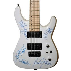 AC/DC Signed White Electric Guitar