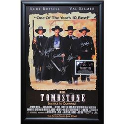 Tombstone Signed by Cast Movie Poster in Framed Case with COA