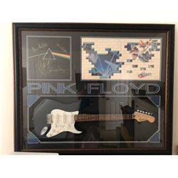 "Pink Floyd Signed ""Dark Side of Moon"" Album and Signed Guitar"