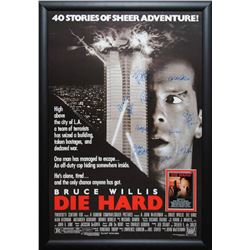 Die Hard - Signed Movie Poster in Wood Frame with COA