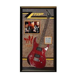ZZ Top Vertical Signed and Framed Guitar