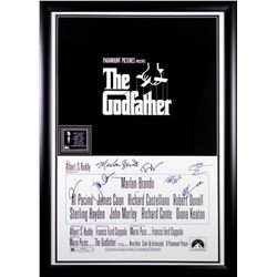 Godfather - Signed Movie Poster With Brando Signature