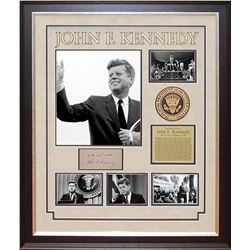 John F. Kennedy Autographed signature collage