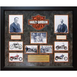 William Harley and Arthur Davidson Autographed Collage