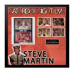 "Steve Martin King Tut ""Saturday Night Live"" framed autographed collage."