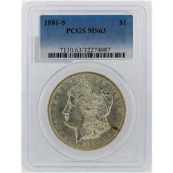 1881-S PCGS MS63 Morgan Silver Dollar