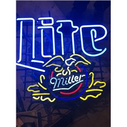 Neon Miller Lite Beer Sign