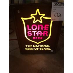 Lonestar Light Up Beer Sign