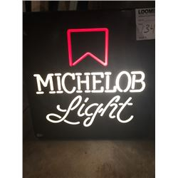 Michelob Light Beer Sign