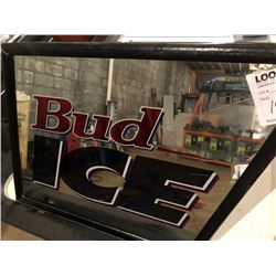 BUNDLE LOT: Bud Ice Mirror Sign, Zima XXX Sign